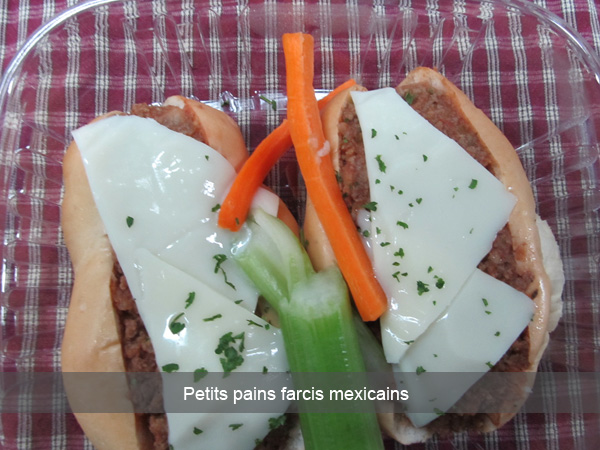 Petits pains farcies mexicains